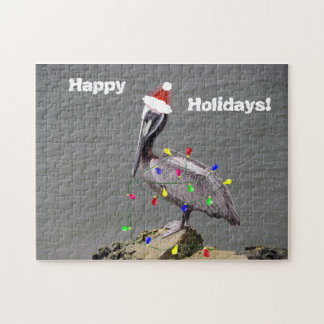 Pelican Preparing for Christmas Jigsaw Puzzle