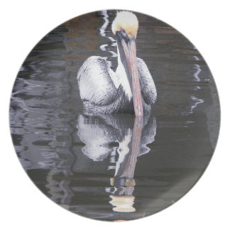 Pelican Reflecting Dinner Plate