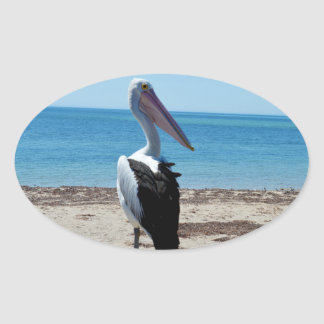 Pelican_Rock, _ Pegatina Ovalada