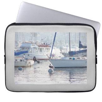Pelican & Sailboats Electronics Sleeve