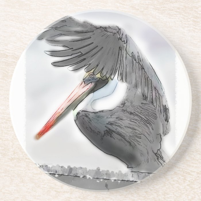 Pelican Salute Coaster