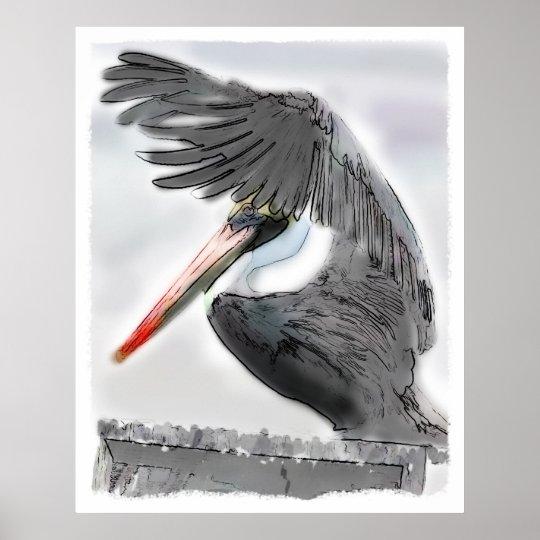 Pelican Salute Poster