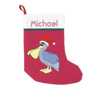 Pelican Santa Christmas (red) Small Christmas Stocking