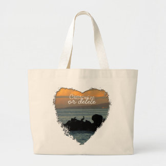 Pelican Silhouette; Customizable Canvas Bags