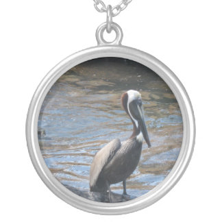 Pelican, St. Croix Round Pendant Necklace