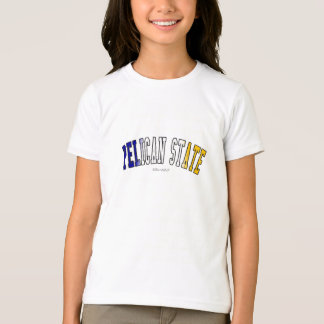 Pelican State in state flag colors T-Shirt