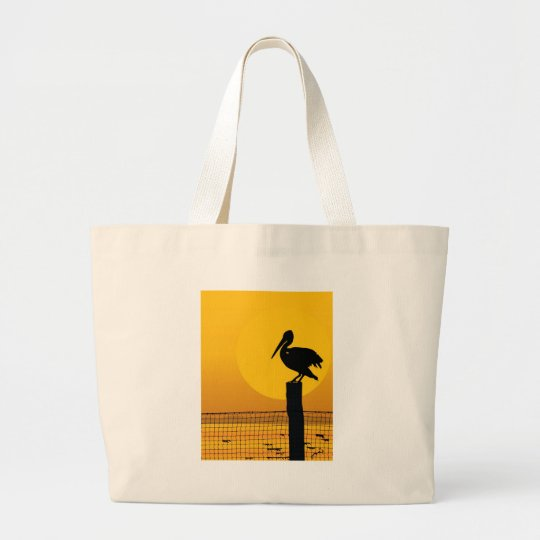 Pelican Sunset Large Tote Bag