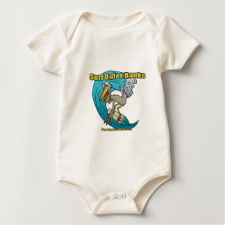 Pelican Surfing on a wave Baby Bodysuit