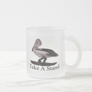 Pelican Take A Stand 10 Oz Frosted Glass Coffee Mug
