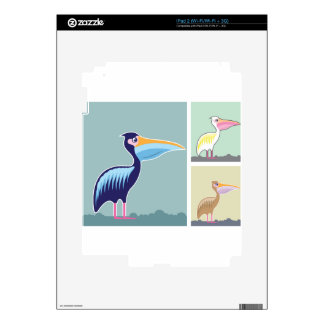 Pelican Vector Illustration Colors Decal For iPad 2