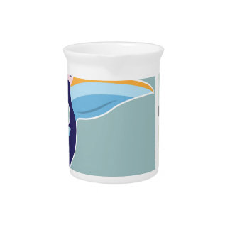 Pelican Vector Illustration Colors Drink Pitchers