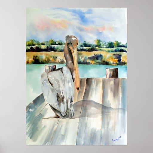 Pelican with an Attitude Print