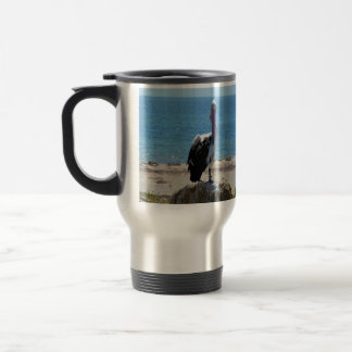 Pelican With The Look, Travel Mug