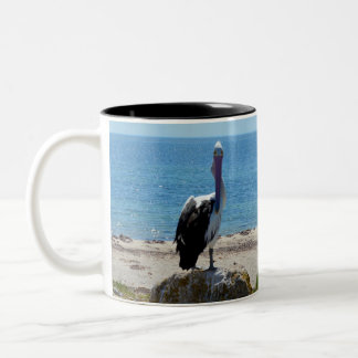 Pelican With The Look, Two-Tone Coffee Mug