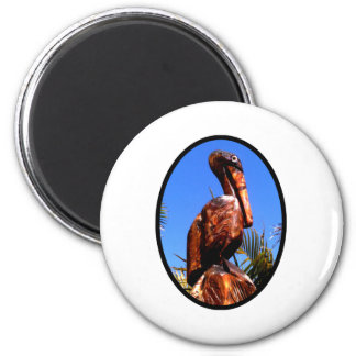Pelican Wooden o Black The MUSEUM Zazzle Gifts 2 Inch Round Magnet