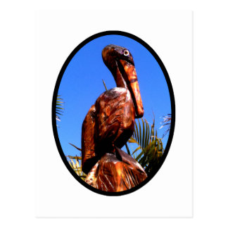 Pelican Wooden o Black The MUSEUM Zazzle Gifts Postcard
