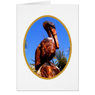 Pelican Wooden o Gold The MUSEUM Zazzle Gifts Greeting Card