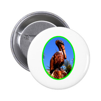 Pelican Wooden o Green The MUSEUM Zazzle Gifts Pinback Buttons