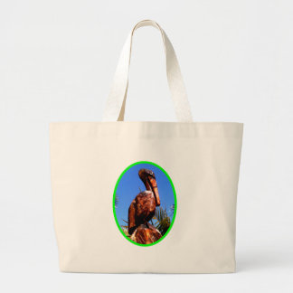 Pelican Wooden o Green The MUSEUM Zazzle Gifts Jumbo Tote Bag