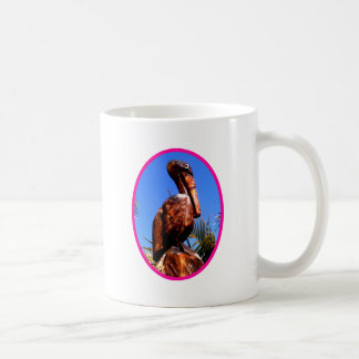 Pelican Wooden o Magenta The MUSEUM Zazzle Gifts Classic White Coffee Mug