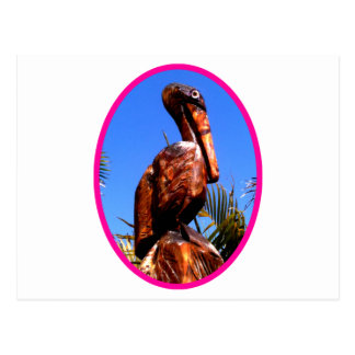 Pelican Wooden o Magenta The MUSEUM Zazzle Gifts Postcard