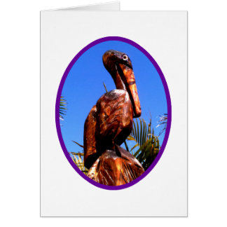 Pelican Wooden o Purple The MUSEUM Zazzle Gifts Greeting Card
