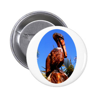 Pelican Wooden o White The MUSEUM Zazzle Gifts 2 Inch Round Button
