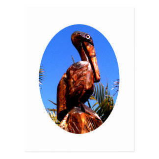 Pelican Wooden o White The MUSEUM Zazzle Gifts Postcard