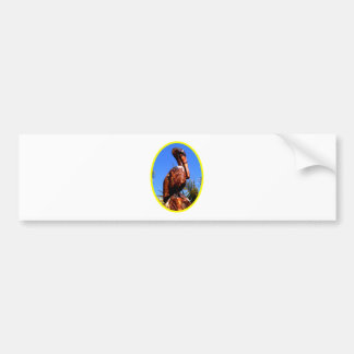 Pelican Wooden o Yellow The MUSEUM Zazzle Gifts Car Bumper Sticker