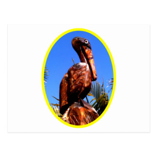 Pelican Wooden o Yellow The MUSEUM Zazzle Gifts Postcard