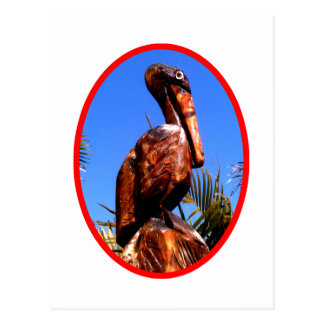 Pelican Wooden The MUSEUM Zazzle Gifts Postcard
