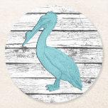 "Pelican Your Color Boardwalk Round Paper Coaster<br><div class=""desc"">Pelican Your Color Boardwalk</div>"