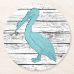 "Pelican Your Color Boardwalk Round Paper Coaster<br><div class=""desc"">Pelican Your Color Boardwalk</div>"