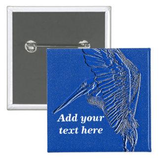 Pelícano, art_ azul pin