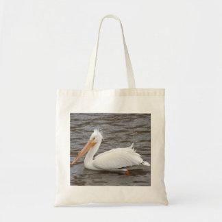 Pelícano blanco americano en la condición de la bolsa tela barata