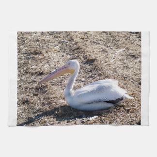 Pelícano blanco americano toallas de cocina