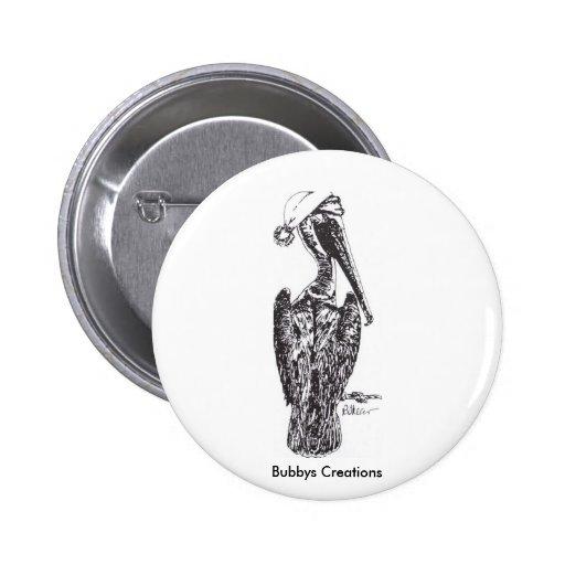 Pelícano con el gorra pins