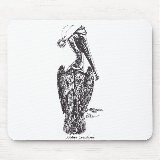 Pelícano con el gorra tapete de ratones