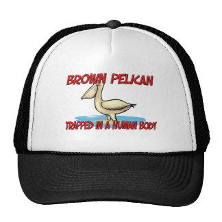 Pelícano de Brown atrapado en un cuerpo humano Gorro