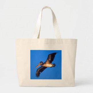 Pelícano de Brown (occidentalis del Pelecanus) Bolsa Tela Grande