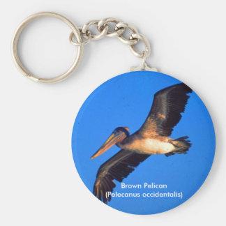 Pelícano de Brown (occidentalis del Pelecanus) Llavero Personalizado