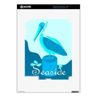 Pelícano de la playa calcomanía para el iPad 2