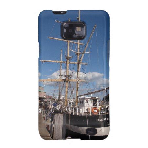 Pelícano de Londres en Weymouth Samsung Galaxy SII Carcasas