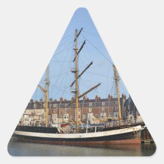 Pelícano de Londres Pegatina Triangular