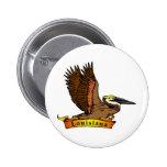 Pelícano de Luisiana Brown Pin