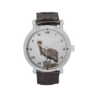 Pelícano de Luisiana Brown Reloj