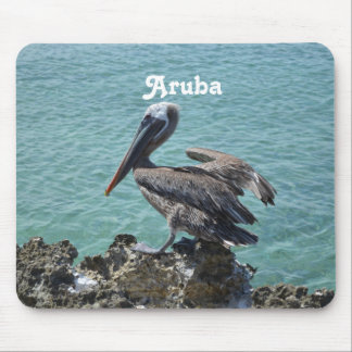 Pelícano en Aruba Alfombrilla De Ratón