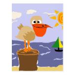 Pelícano en el arte de la playa