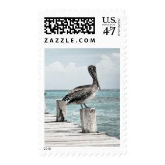 ¡PELÍCANO EN RESUMEN! (~ del diseño 2) Timbre Postal