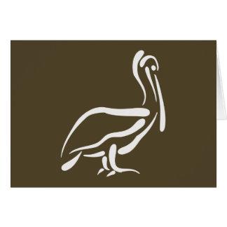 Pelícano estilizado tarjeta de felicitación